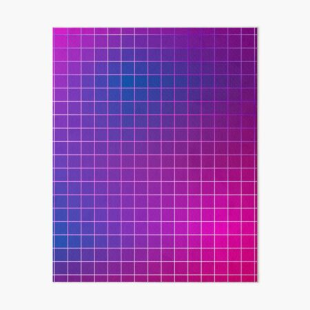 Pink Purple Blue Ombre Squares Art Board Print
