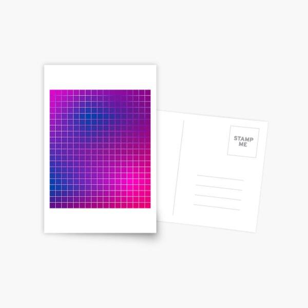 Pink Purple Blue Ombre Squares Postcard