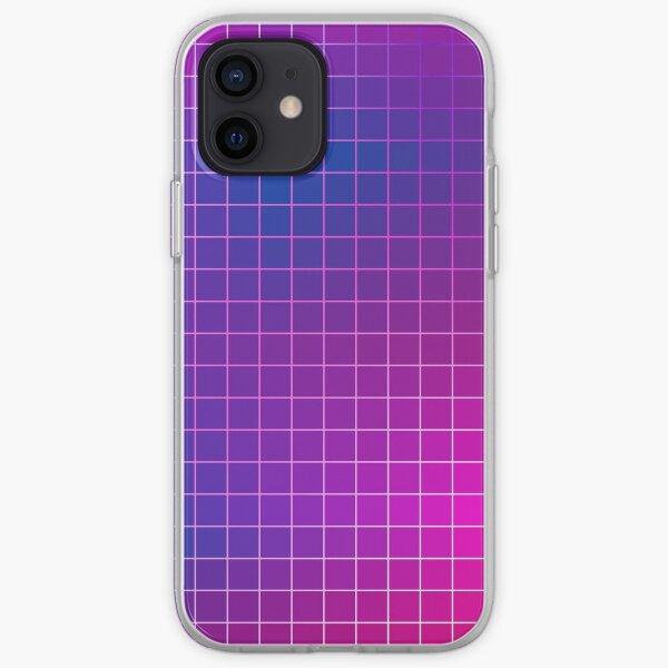 Pink Purple Blue Ombre Squares iPhone Soft Case