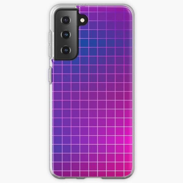 Pink Purple Blue Ombre Squares Samsung Galaxy Soft Case