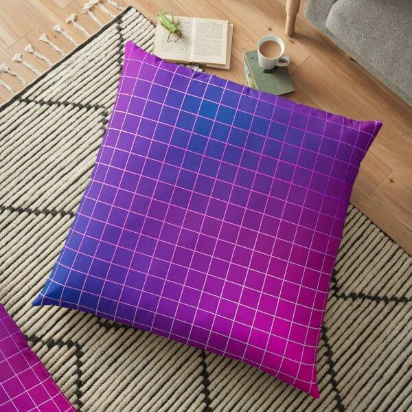 Pink Purple Blue Ombre Squares Floor Pillow