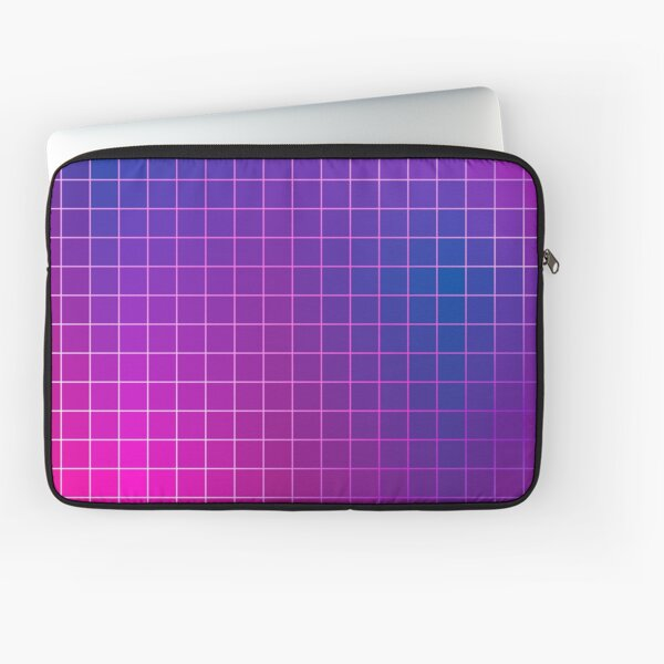Pink Purple Blue Ombre Squares Laptop Sleeve