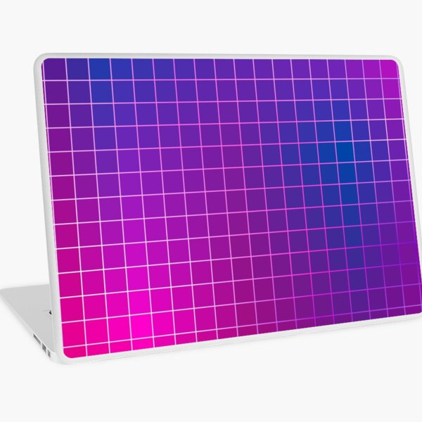 Pink Purple Blue Ombre Squares Laptop Skin
