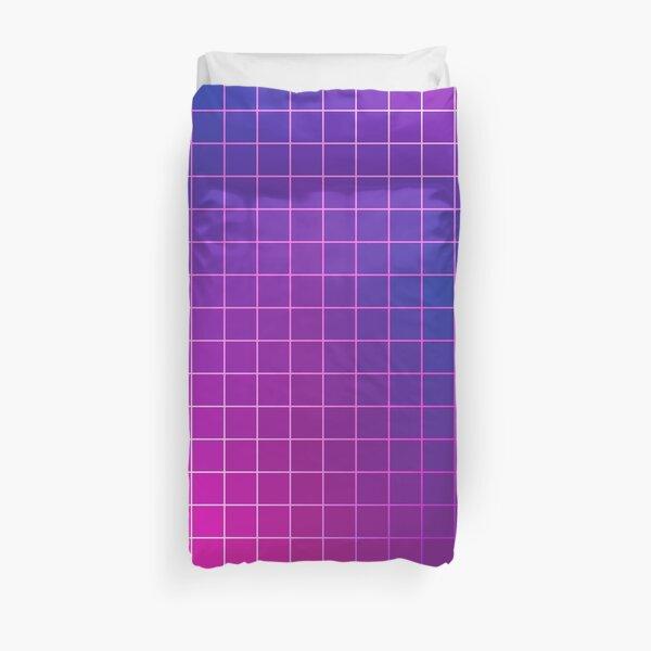 Pink Purple Blue Ombre Squares Duvet Cover