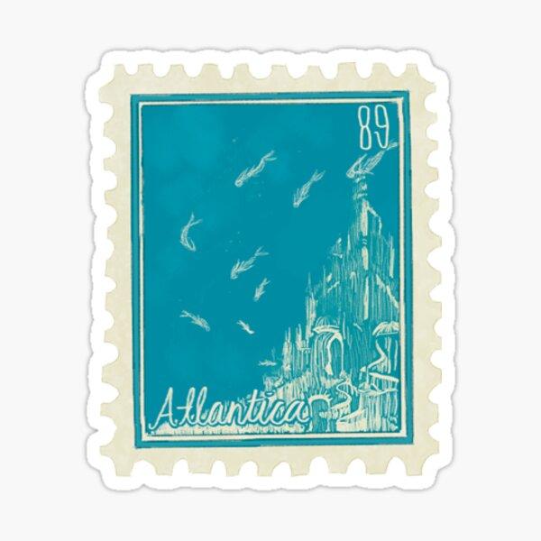 atlantica postage stamp Sticker