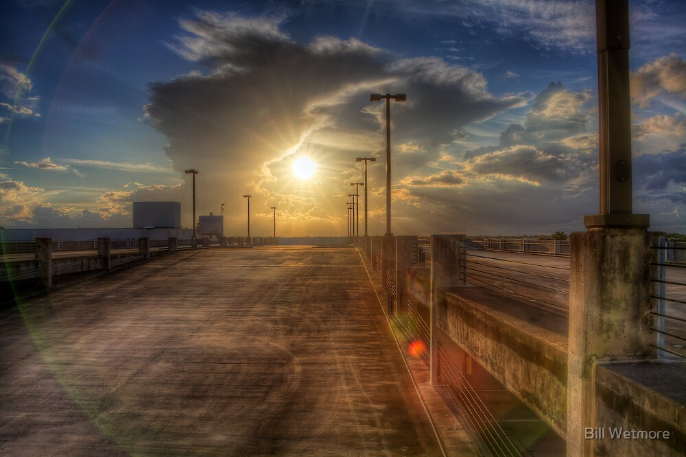 Sunset from a Parking Garage roof by Bill Wetmore