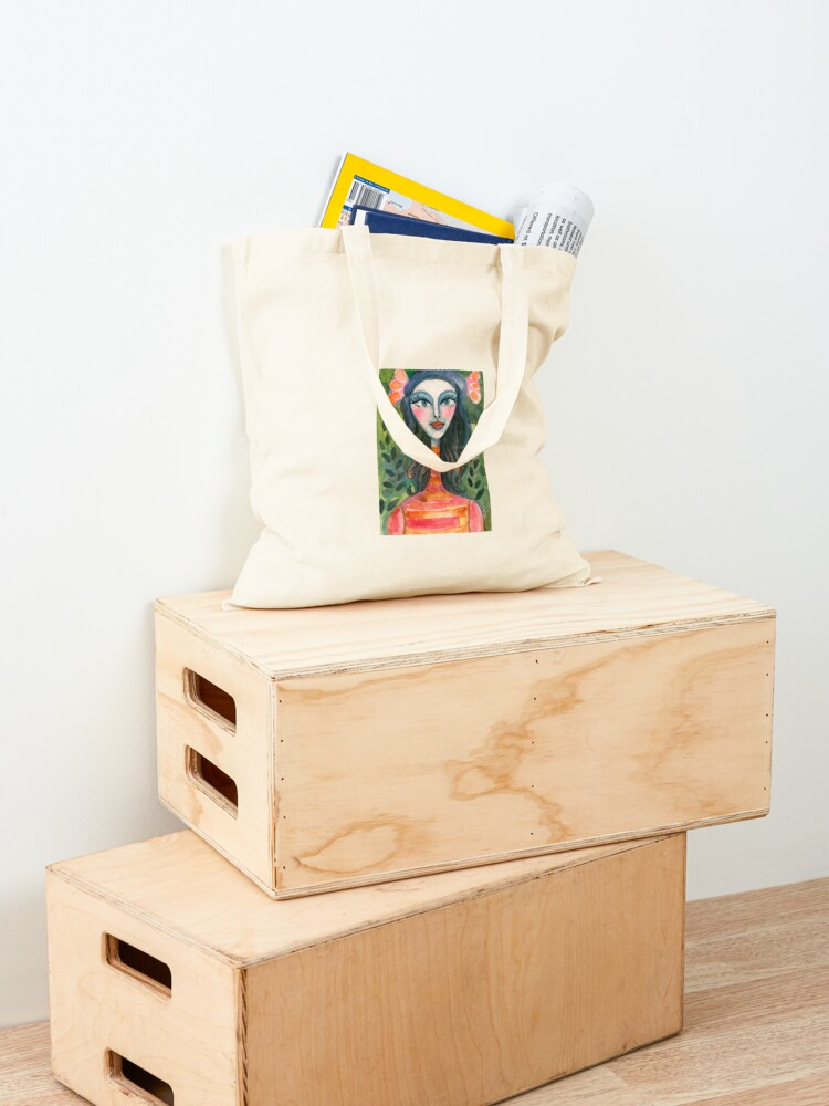 Alternate view of Turtleneck Girl Tote Bag