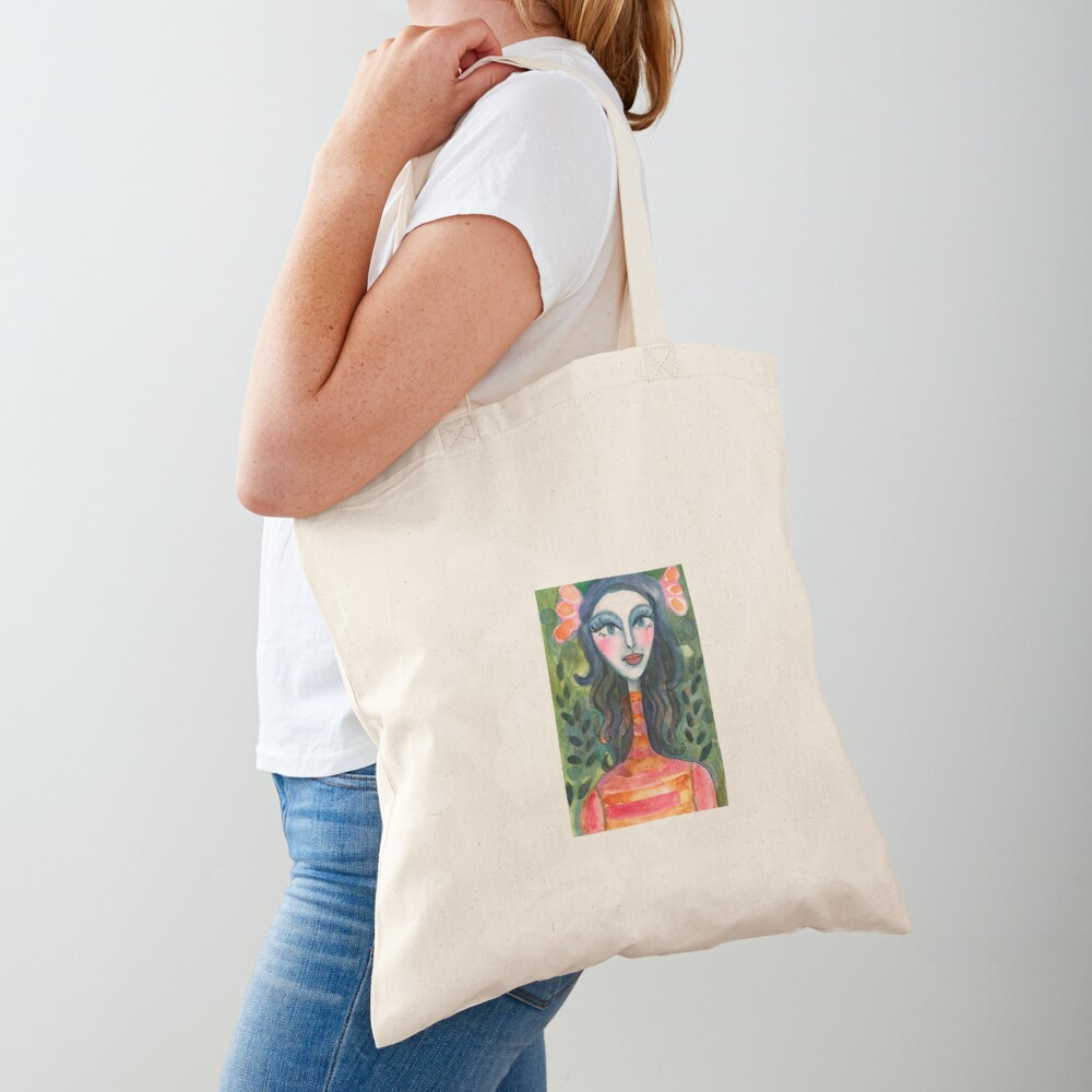 Turtleneck Girl Tote Bag