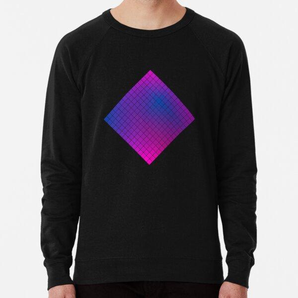 Pink Purple Blue Ombre Squares Lightweight Sweatshirt