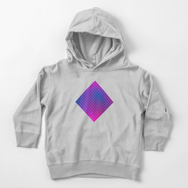 Pink Purple Blue Ombre Squares Toddler Pullover Hoodie