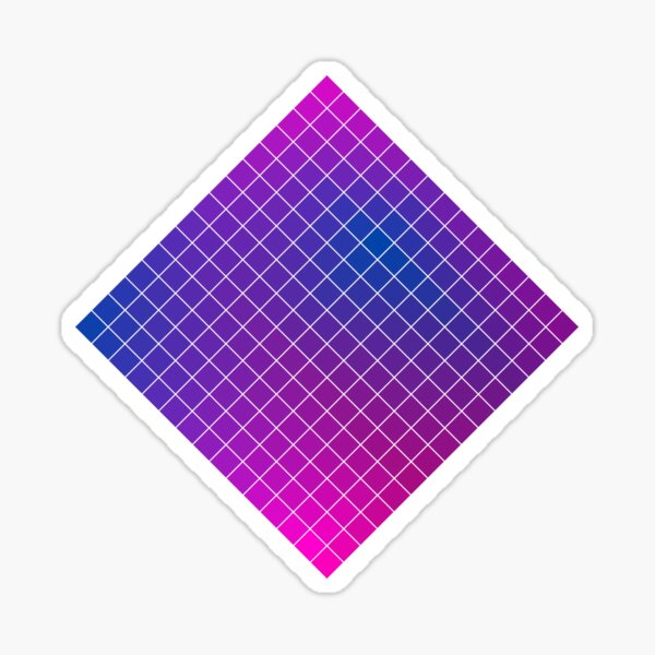 Pink Purple Blue Ombre Squares Sticker