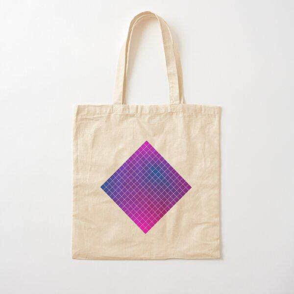 Pink Purple Blue Ombre Squares Cotton Tote Bag