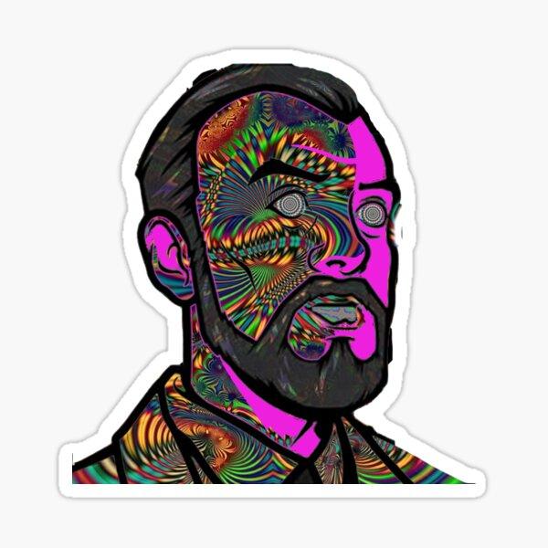 Psychedelic krieger Sticker