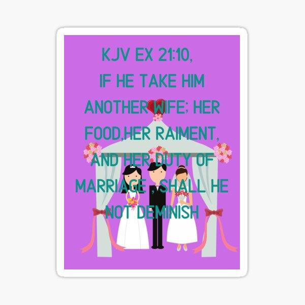 Ex 21:10  Sticker