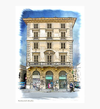 Pen and Wash Building (Digital) Photographic Print