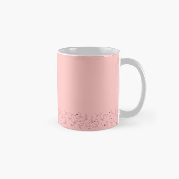 Aleiah Flower Collection Spring Seamless Border Surface Pattern Classic Mug