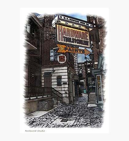 Pen and Wash Building - Hardware (Digital) Photographic Print