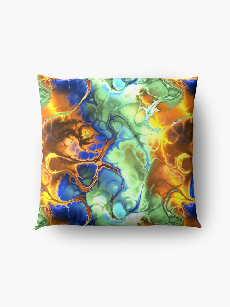 Alternate view of Digital art,fractal,mix of colors Floor Pillow