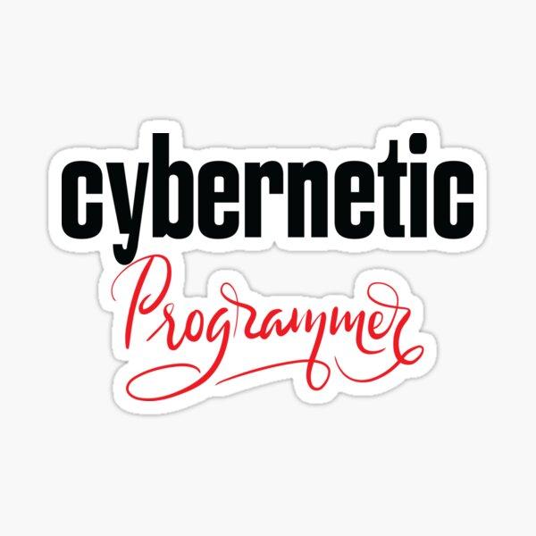 Cybernetic Programmer Sticker