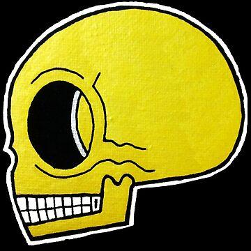 Gold Pop Skull by Vinko