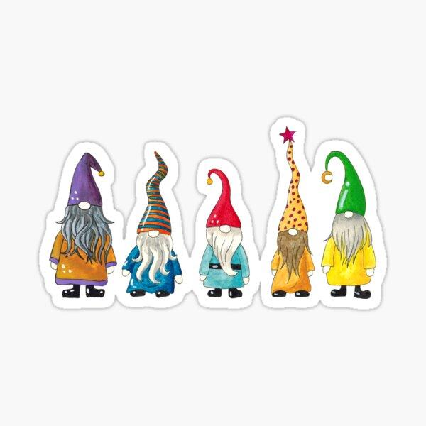 Gnomes in a Row Sticker