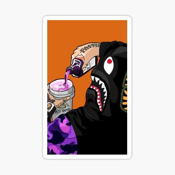 Bape Monkey Drinking Soda Sticker Decal