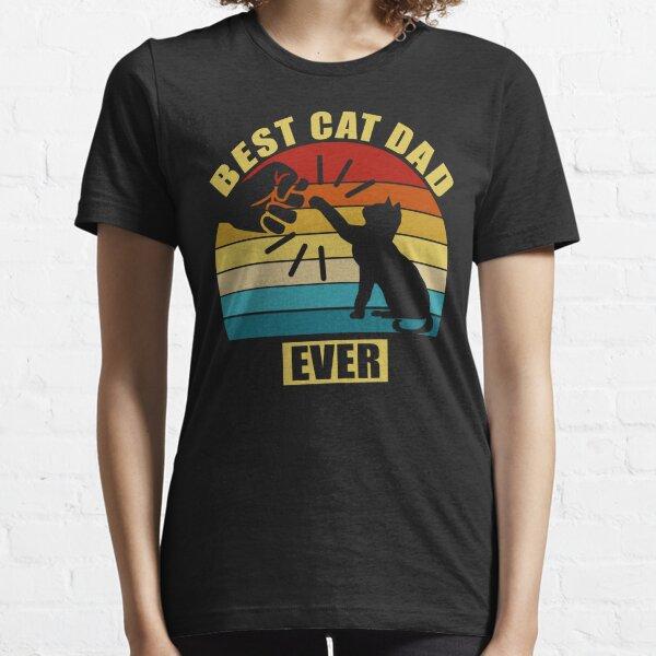 Vintage Best Cat Dad Ever Essential T-Shirt