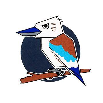 Blue Winged Kookaburra by Vinko