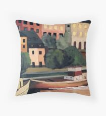 Barges Throw Pillow