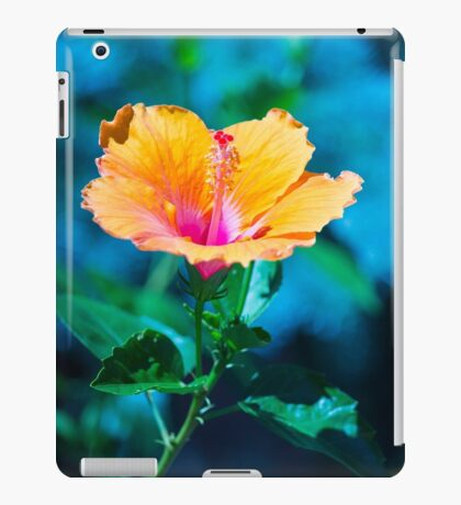 Orange flower iPad Case/Skin