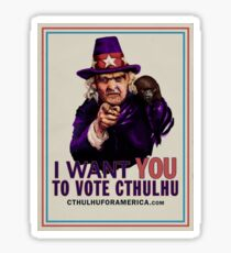 Aunt Keziah: Vote Cthulhu for President Sticker