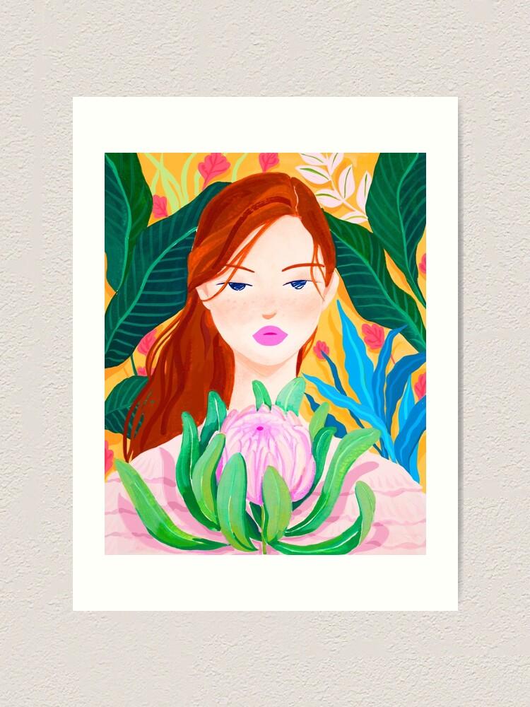 Alternate view of Botanical Lady Art Print