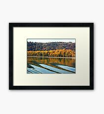 Autumn along the Rhone Framed Print