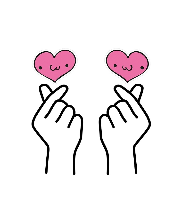 "Cute Korean finger heart"" iPad Case & Skin by TheMret | Redbubble"