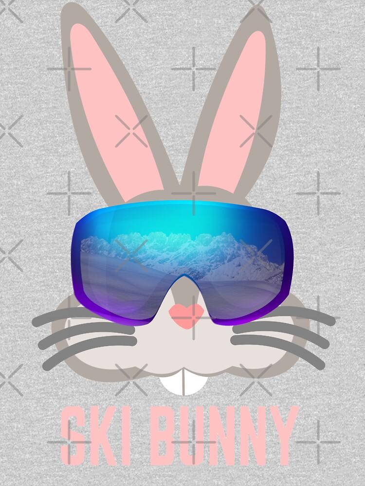 ski bunny, skiing bunny by PlantVictorious