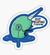 Evil Narwhal Favors Global Warming Sticker
