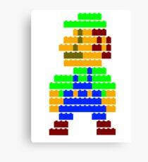 8-bit brick Luigi Canvas Print