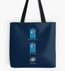 8-Bit Tardis - Doctor Who Shirt Tote Bag