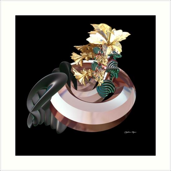 Gold Flowers by lightningMade