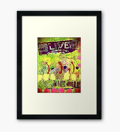 INDEFATIGABLE Framed Print