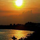 Evening Beach Sun by Deborah  Benoit