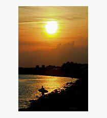 Evening Beach Sun Photographic Print