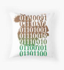 squirrel binary code nature animal design Throw Pillow