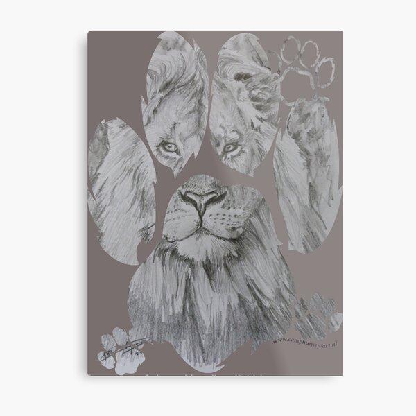 Pawed Lion Metal Print