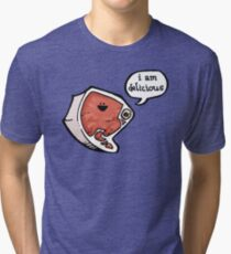 I am delicious! Tri-blend T-Shirt