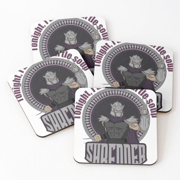 SHREDDER Teenage Mutant Ninja Turtles  Coasters (Set of 4)