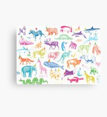 Party Animals Metal Print
