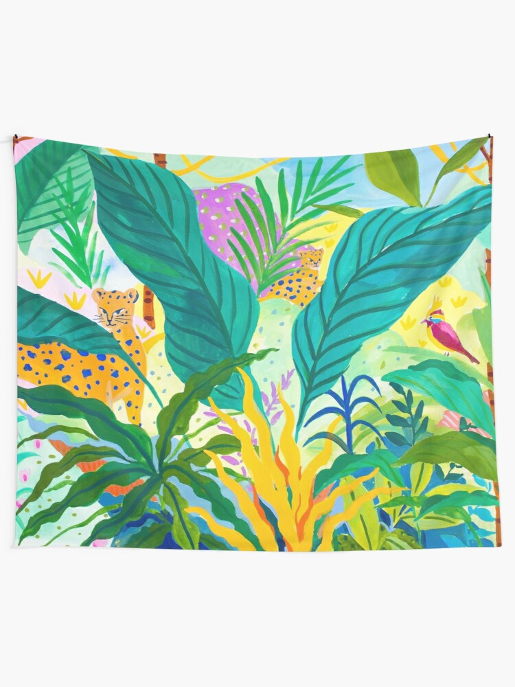 Alternate view of Paradise Jungle Tapestry