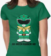 Green Ranger - GO! - Minifolk Deign Womens Fitted T-Shirt