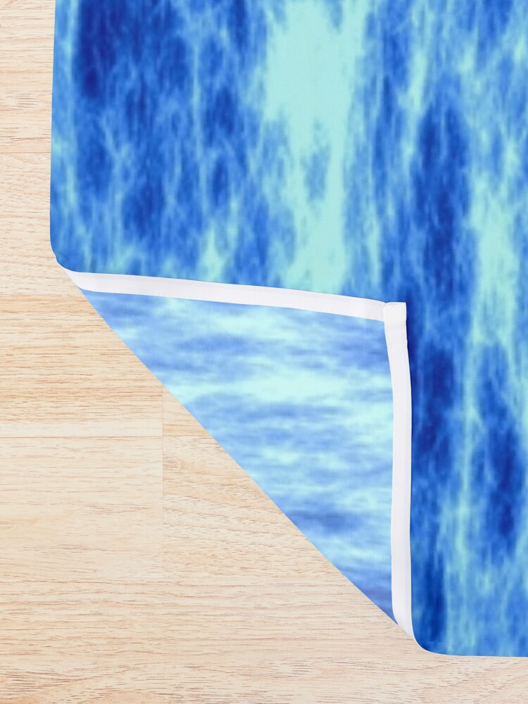 Alternate view of Blue energy,glowing plasma Shower Curtain
